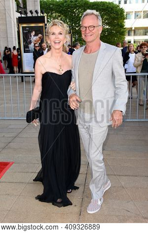 Trudie Styler (L) and singer-songwriter Sting attend the 2018 American Ballet Theatre Spring Gala at The Metropolitan Opera House on May 21, 2018 in New York City.