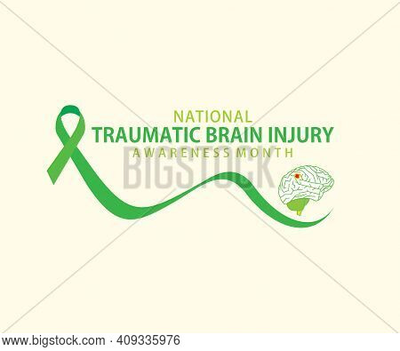 Vector Illustration Of National Traumatic Brain Injury Awareness Month Concept Design.