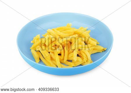 French Fries Isolated On White Background. Speed, Cooked, Of, Batatas, White, Potato, French, Fries