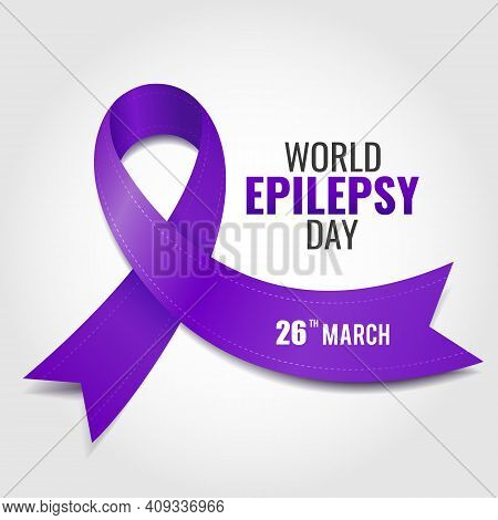 Vector Illustration Of World Epilepsy Day. Purple Day. For A Poster And Banner.