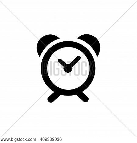 Alarm Clock Icon Vector. Alarm Clock Icon Vector Isolated On White Background. Alarm Clock Icon Simp