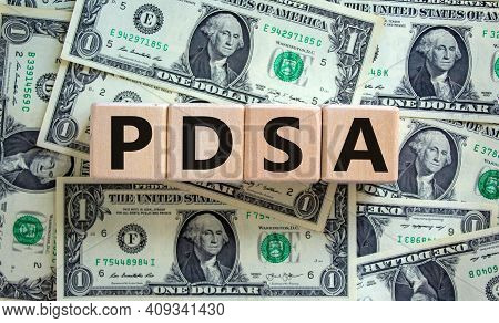 Pdca, Plan Do Check Act Symbol. Wooden Cubes With Words 'pdca, Plan Do Check Act'. Beautiful Backgro