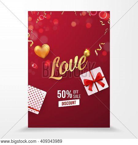Love Vector Selling Brochure Flyer Poster Template Design