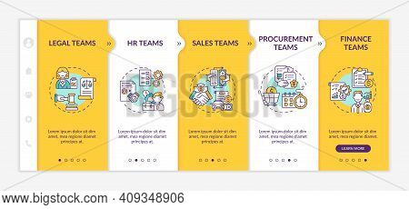 Contract Management Software Users Onboarding Vector Template. Legal Human Resourses Teams. Responsi