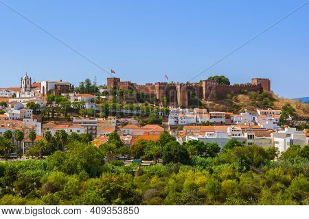 Castle in Silves town - Algarve region - Portugal