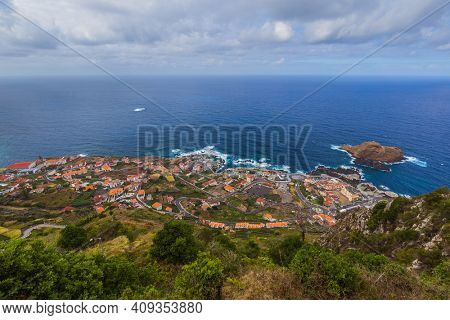 Porto Moniz in Madeira Portugal - travel background