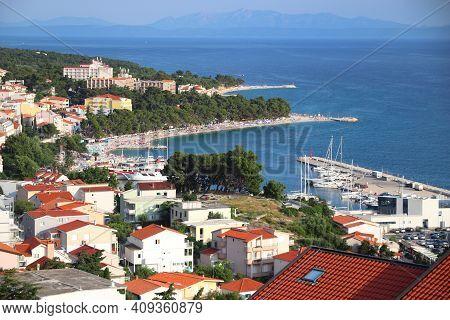 Baska Voda Vacation Resort, Croatia. Resort Town In Dalmatia. Makarska Riviera.