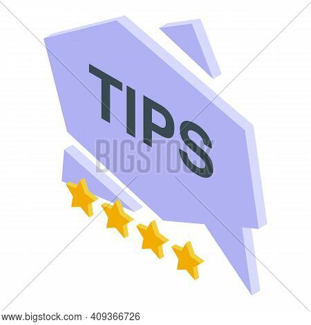 Tips And Tricks Icon. Isometric Of Tips And Tricks Vector Icon For Web Design Isolated On White Back