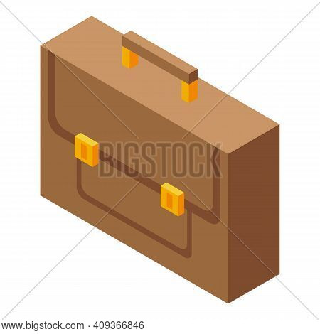 Work Suitcase Icon. Isometric Of Work Suitcase Vector Icon For Web Design Isolated On White Backgrou