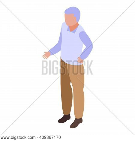 Grandfather Icon. Isometric Of Grandfather Vector Icon For Web Design Isolated On White Background