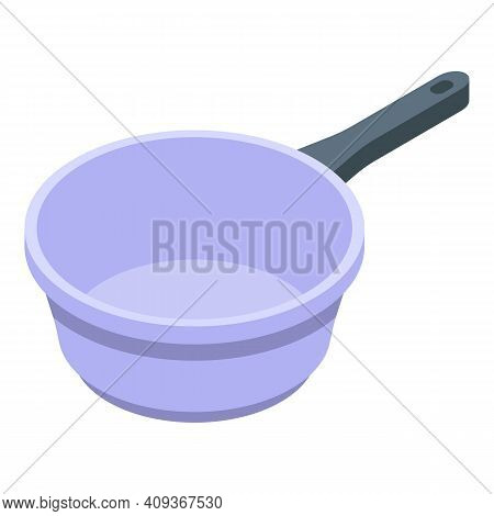 Home Wok Pan Icon. Isometric Of Home Wok Pan Vector Icon For Web Design Isolated On White Background