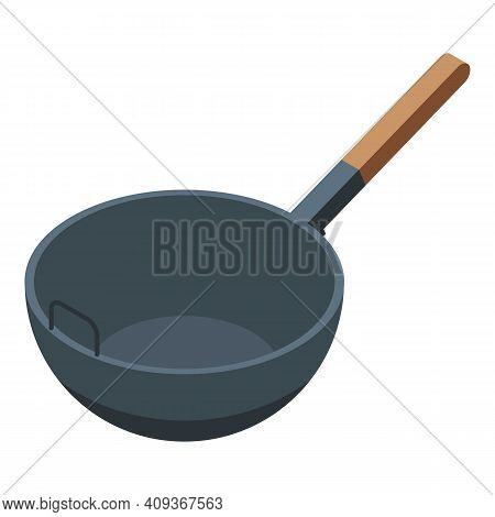 Stir Fry Icon. Isometric Of Stir Fry Vector Icon For Web Design Isolated On White Background