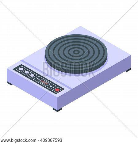 Kitchen Wok Pan Icon. Isometric Of Kitchen Wok Pan Vector Icon For Web Design Isolated On White Back