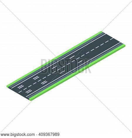 Plane Runway Icon. Isometric Of Plane Runway Vector Icon For Web Design Isolated On White Background