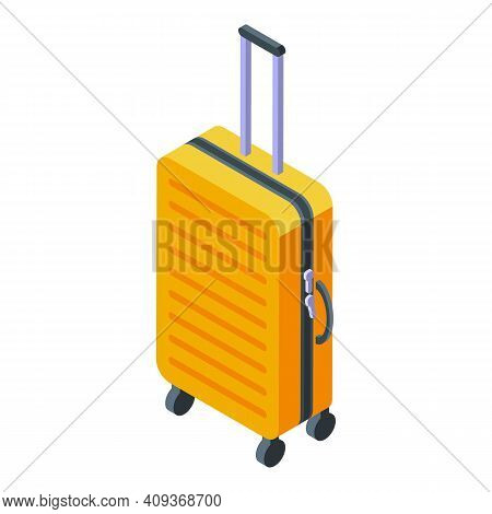 Baggage Icon. Isometric Of Baggage Vector Icon For Web Design Isolated On White Background