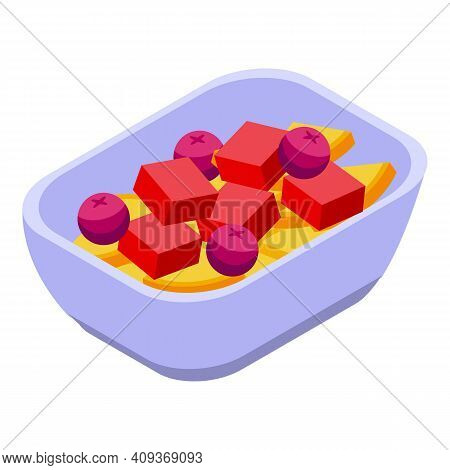 Plane Food Tray Icon. Isometric Of Plane Food Tray Vector Icon For Web Design Isolated On White Back