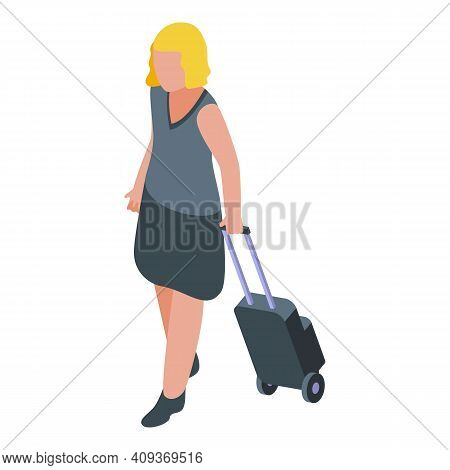 Plane Trip Passenger Icon. Isometric Of Plane Trip Passenger Vector Icon For Web Design Isolated On