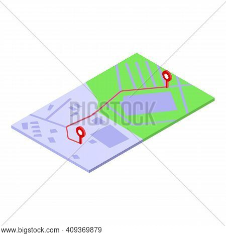 Road Trip Icon. Isometric Of Road Trip Vector Icon For Web Design Isolated On White Background