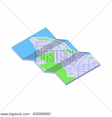 Travel Trip Map Icon. Isometric Of Travel Trip Map Vector Icon For Web Design Isolated On White Back