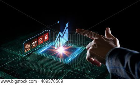Business, Technology, Internet And Network Concept. Financial Graph. Stock Market Chart. Forex Inves