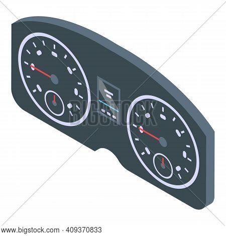 Dashboard Panel Icon. Isometric Of Dashboard Panel Vector Icon For Web Design Isolated On White Back