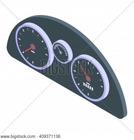 Automobile Dashboard Icon. Isometric Of Automobile Dashboard Vector Icon For Web Design Isolated On