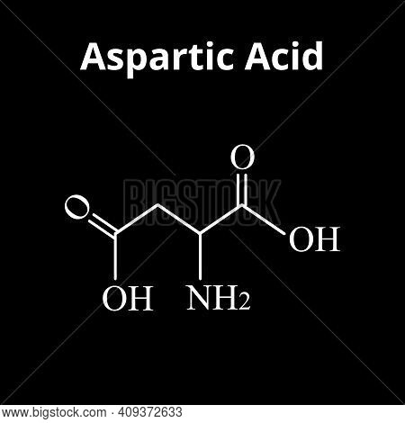 Aspartic Acid Is An Amino Acid. Chemical Molecular Formula Aspartic Acid Is An Amino Acid. Vector Il