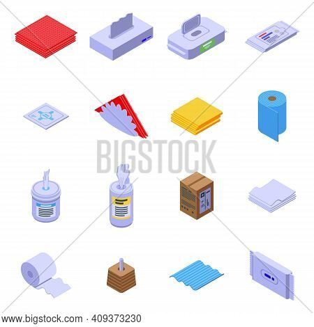 Tissue Icon. Isometric Of Tissue Vector Icon For Web Design Isolated On White Background