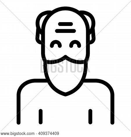 Grandpa Icon. Outline Grandpa Vector Icon For Web Design Isolated On White Background