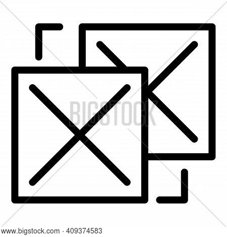 Online Redesign Icon. Outline Online Redesign Vector Icon For Web Design Isolated On White Backgroun