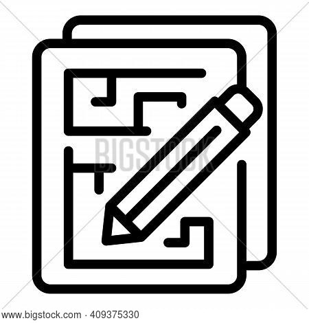 Redesign Papers Icon. Outline Redesign Papers Vector Icon For Web Design Isolated On White Backgroun