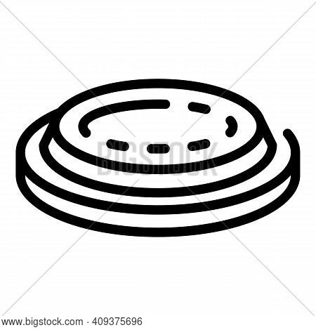 Pool Heater Icon. Outline Pool Heater Vector Icon For Web Design Isolated On White Background