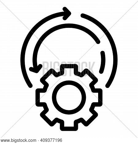 Setting Adaptation Icon. Outline Setting Adaptation Vector Icon For Web Design Isolated On White Bac
