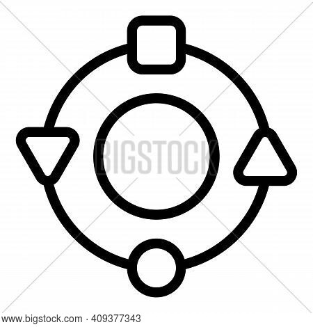 Adaptation Circle Icon. Outline Adaptation Circle Vector Icon For Web Design Isolated On White Backg
