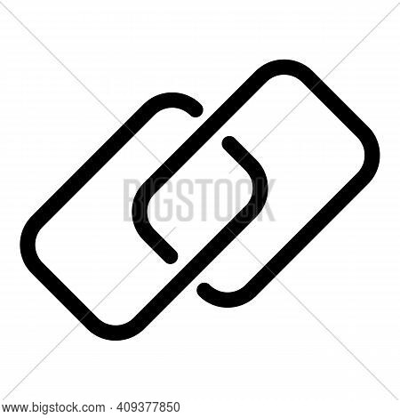Share Chain Link Icon. Outline Share Chain Link Vector Icon For Web Design Isolated On White Backgro