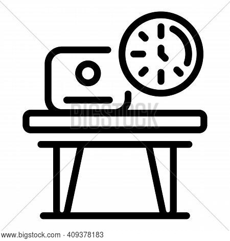 Flexible Work Time Icon. Outline Flexible Work Time Vector Icon For Web Design Isolated On White Bac
