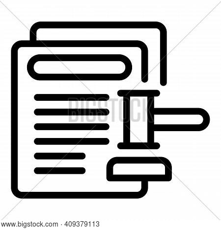 Legal Contribution Icon. Outline Legal Contribution Vector Icon For Web Design Isolated On White Bac