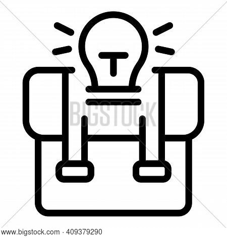 Idea Suitcase Icon. Outline Idea Suitcase Vector Icon For Web Design Isolated On White Background