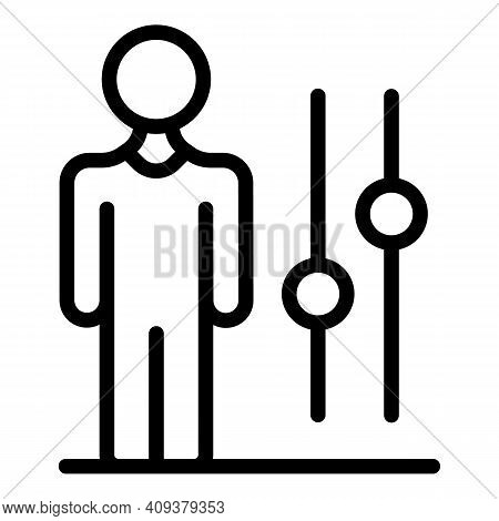 Business Contribution Icon. Outline Business Contribution Vector Icon For Web Design Isolated On Whi
