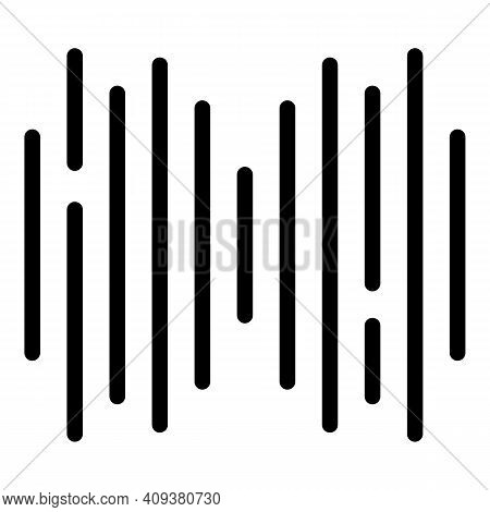 Voice Wave Icon. Outline Voice Wave Vector Icon For Web Design Isolated On White Background