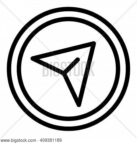 Send Button Icon. Outline Send Button Vector Icon For Web Design Isolated On White Background