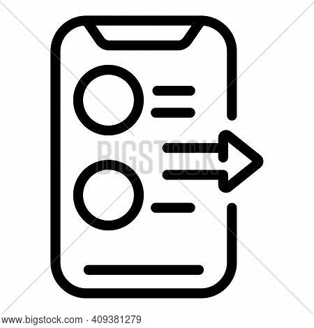 Phone Reply Icon. Outline Phone Reply Vector Icon For Web Design Isolated On White Background
