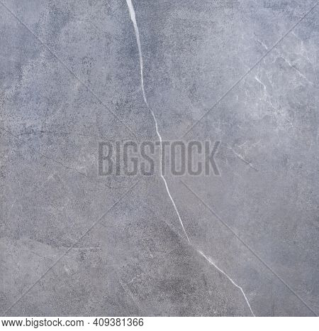 Natural Gray Marble Texture Background Polished Glossy Granite Ceramic Tile Honed Surface, Grey Brec