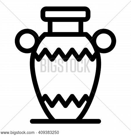 Vessel Amphora Icon. Outline Vessel Amphora Vector Icon For Web Design Isolated On White Background