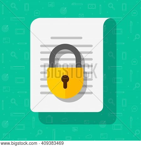 Business Information Document Protection Access Concept Vector Or Privacy Confidential Secret Info D
