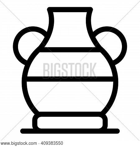 Sculpture Amphora Icon. Outline Sculpture Amphora Vector Icon For Web Design Isolated On White Backg