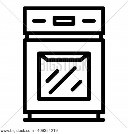 Cooker Stove Icon. Outline Cooker Stove Vector Icon For Web Design Isolated On White Background