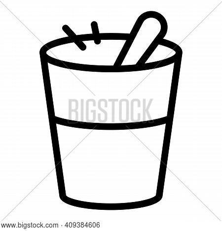 Cooking Glass Icon. Outline Cooking Glass Vector Icon For Web Design Isolated On White Background