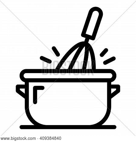 Cooking Mix Icon. Outline Cooking Mix Vector Icon For Web Design Isolated On White Background