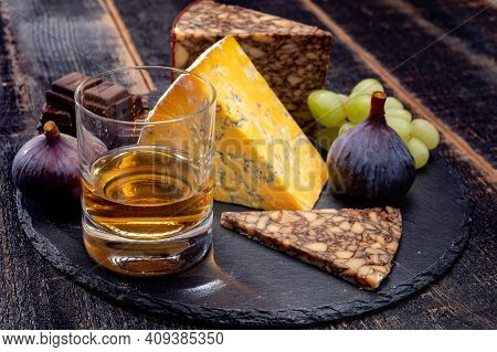 Tasting Of Irish Blended Whiskey And Cheeses From Ireland And Uk